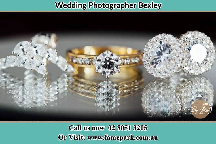 Photo of the Bride's cliff, ring and earrings Bexley NSW 2207