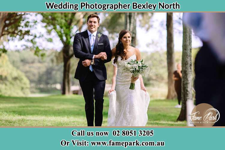 Photo of the Groom and the Bride walking Bexley North NSW 2207