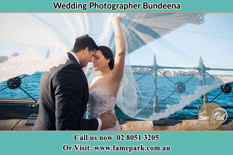 Photo of the Groom and the Bride kissing Bundeena NSW 2230