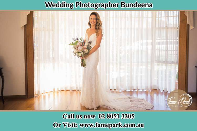 Photo of the Bride holding flower bouquet Bundeena NSW 2230