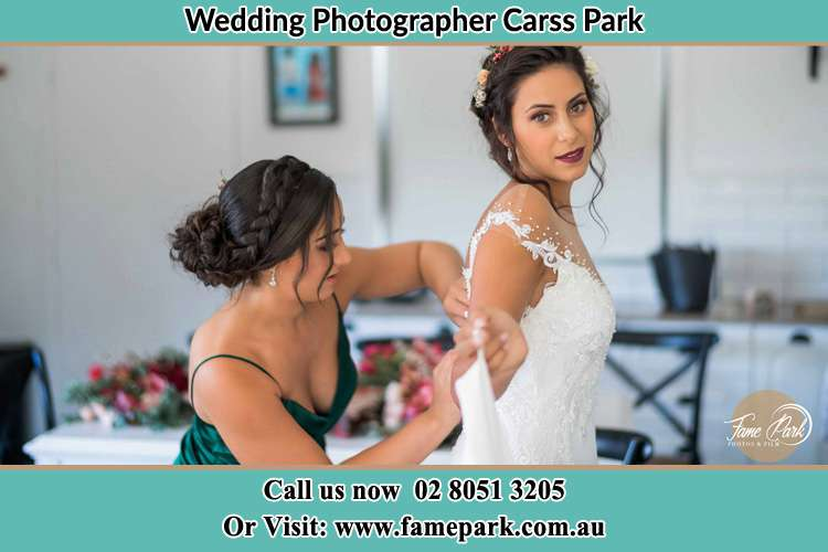 Photo of the Bride and the bridesmaid preparing Carss Park NSW 2221