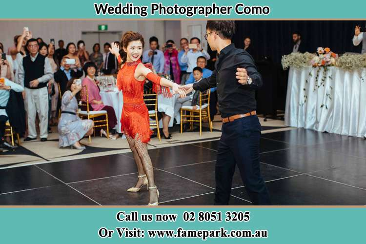 Photo of the Bride and the Groom dancing on the dance floor Como NSW 2226