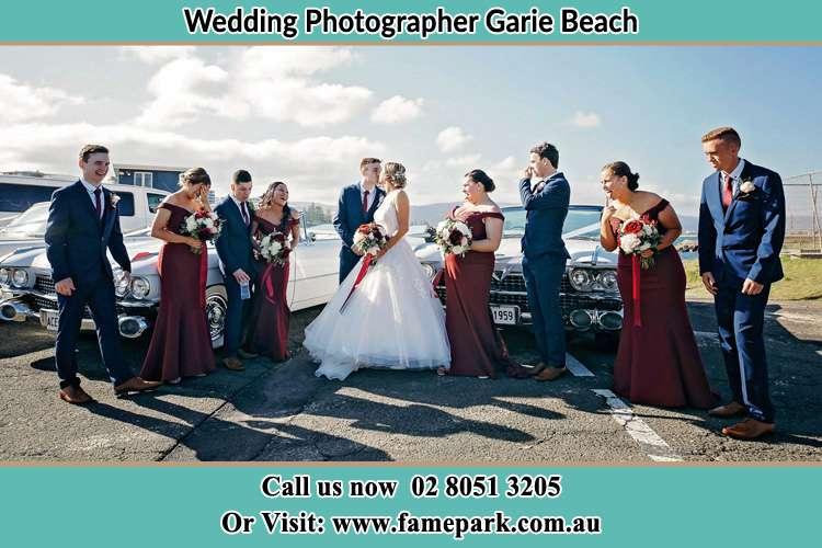 Photo of the Groom and the Bride with the entourage Garie Beach NSW 2233