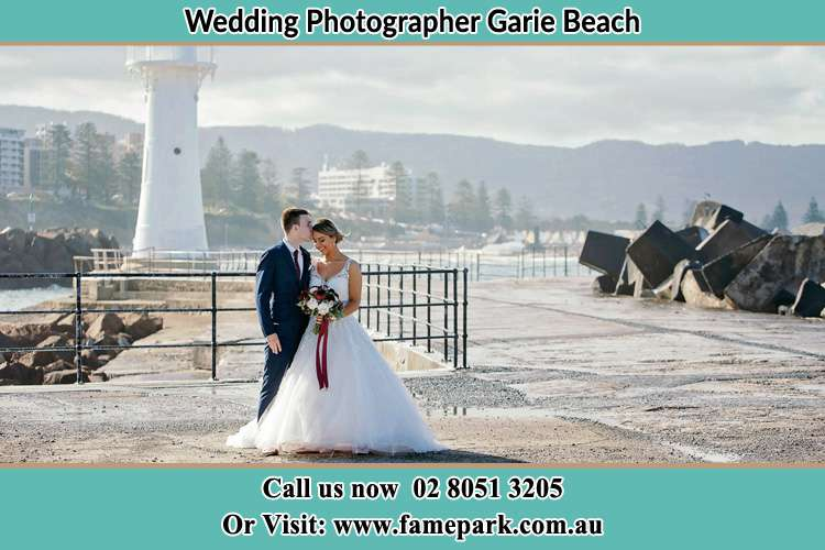 Photo of the Bride and Groom at the Watch Tower Garie Beach NSW 2233