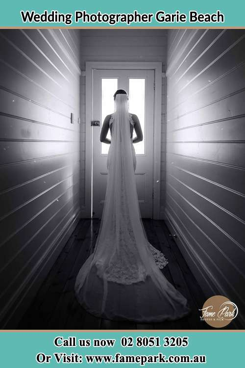 Photo of the Bride going out the door Garie Beach NSW 2233