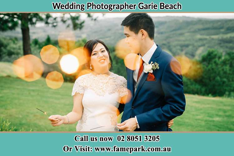 Photo of the Bride and the Groom at the yard Garie Beach NSW 2233