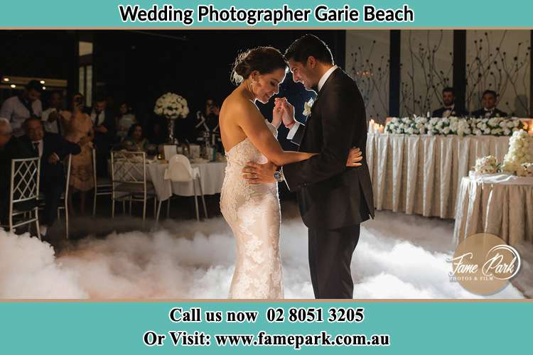 Photo of the Bride and the Groom dancing Garie Beach NSW 2233
