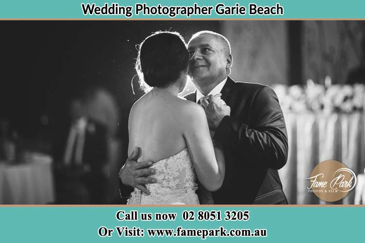 Photo of the Bride dancing with her father Garie Beach NSW 2233