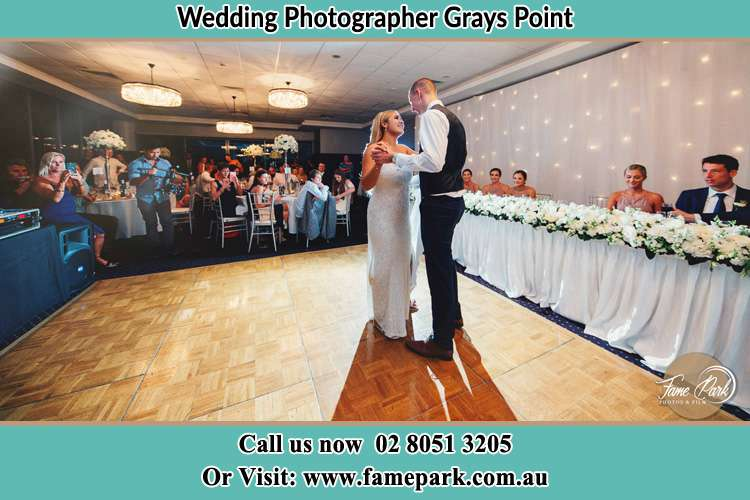 Photo of the Bride and the Groom dancing Grays Point NSW 2232