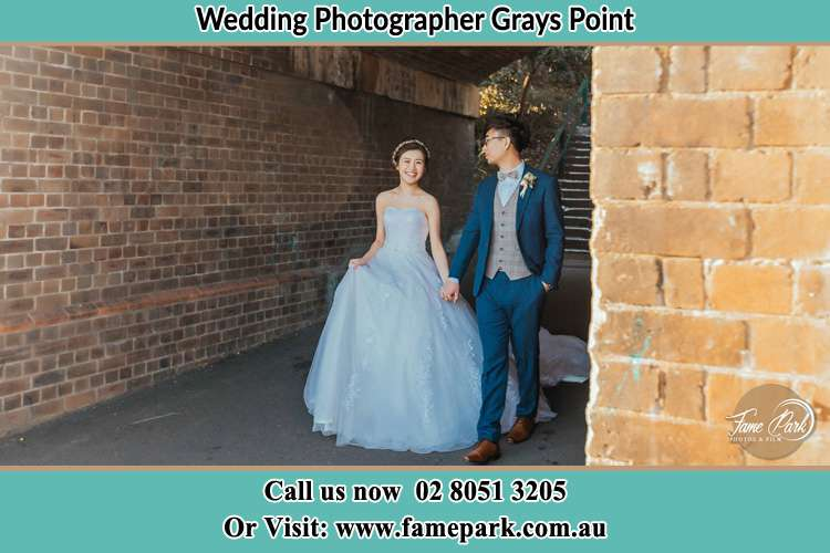 Photo of the Bride and the Groom walking Grays Point NSW 2232