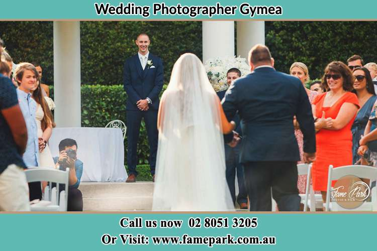 Photo of the Bride with her father walking the aisle Gymea NSW 2227