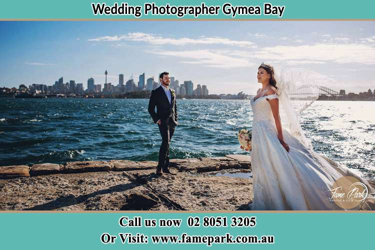 Photo of the Groom and the Bride at the sea front Gymea Bay NSW 2227