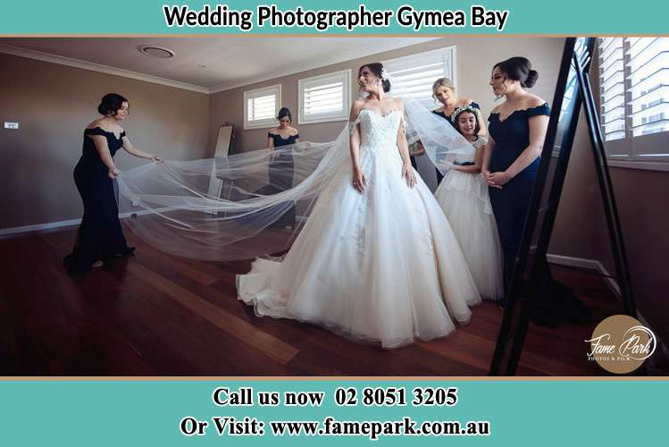 Photo of the Bride and the secondary sponsor preparing Gymea Bay NSW 2227