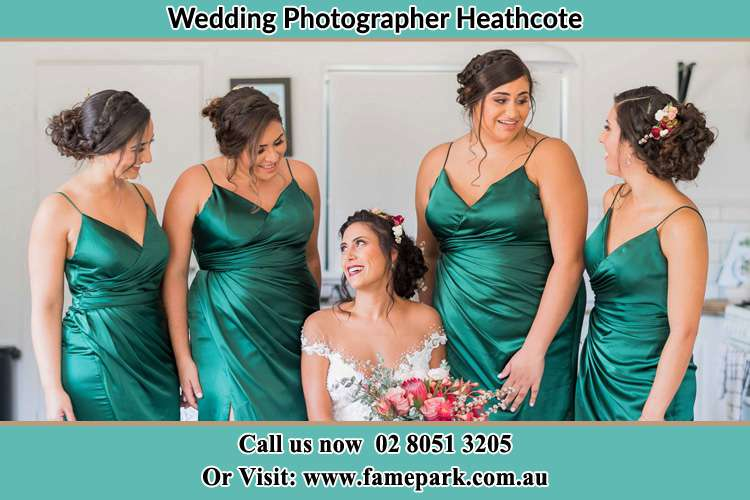 Photo of the Bride and the bridesmaids Heathcote NSW 2233