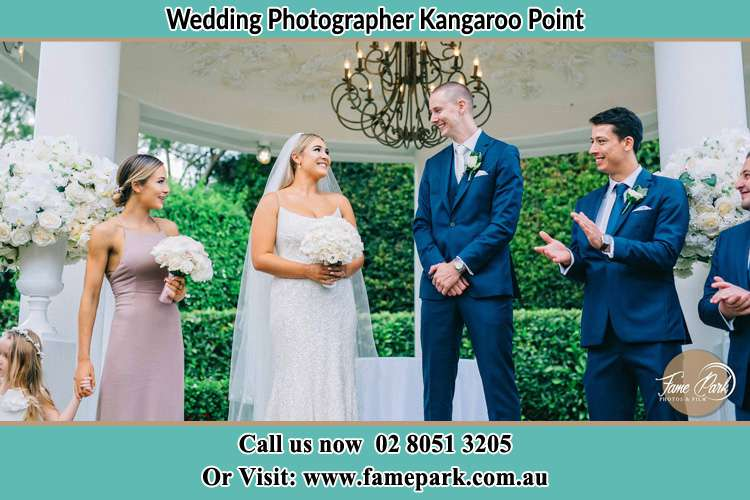 Photo of the Groom and the Bride with the entourage Kangaroo Point NSW 2224