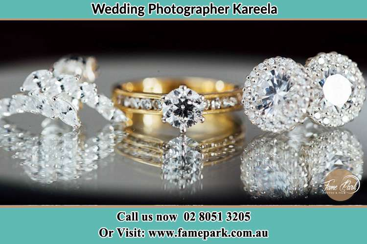 Photo of the Bride's cliff, ring and earrings Kareela NSW 2232
