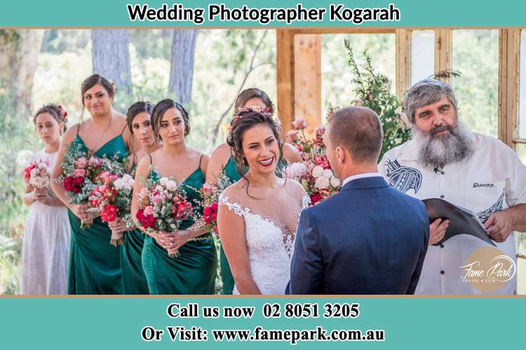 Photo of the Groom and the Bride at the matrimony Kogarah NSW 2217