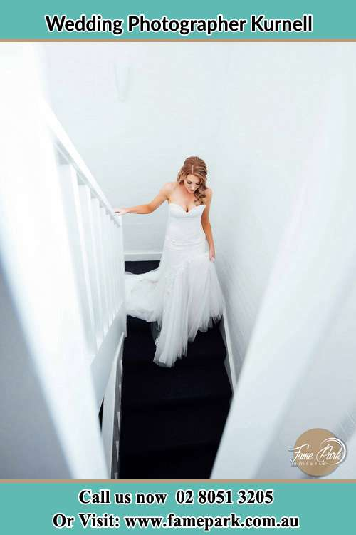Photo of the Bride going down the stair Kurnell NSW 2231