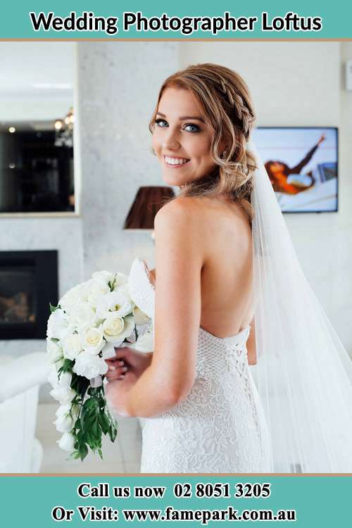 Photo of the Bride holding flower bouquet Loftus NSW 2232
