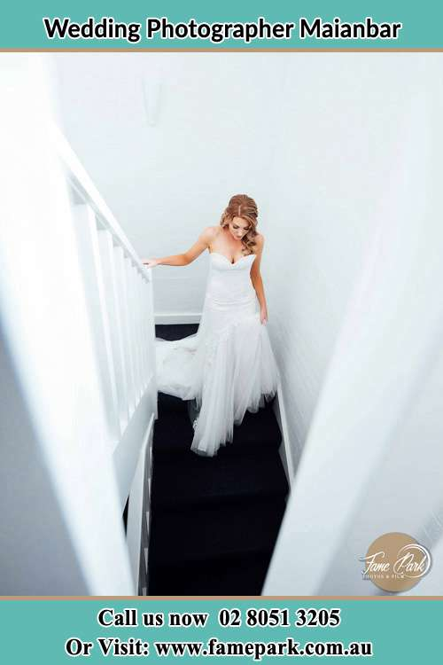 Photo of the Bride going down the stair Maianbar NSW 2230
