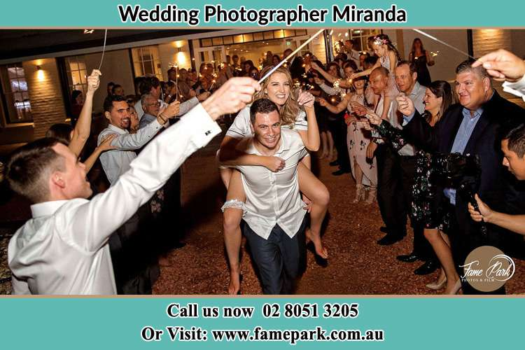 Photo of the Bride horse back ridding to the Groom Miranda NSW 2234