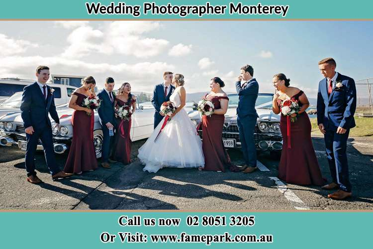 Photo of the Groom and the Bride with the entourage Monterey NSW 2217
