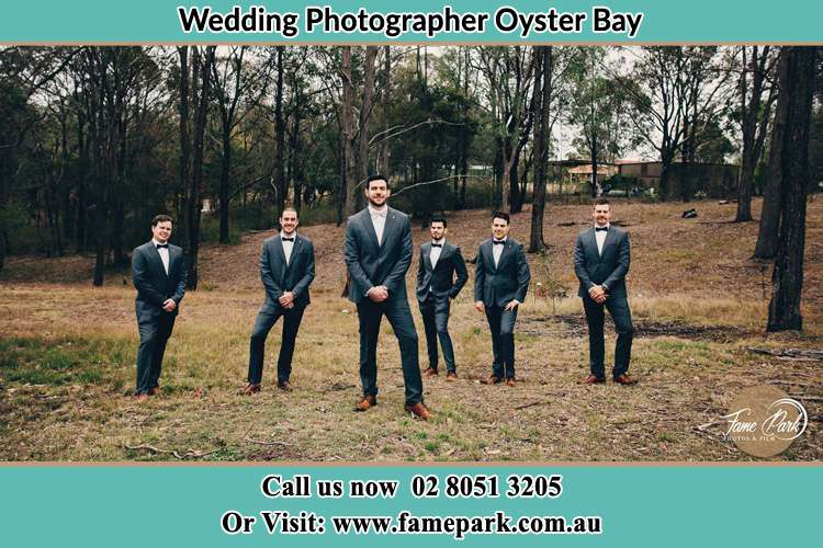 Photo of the Groom and the groomsmen Oyster Bay NSW 2225