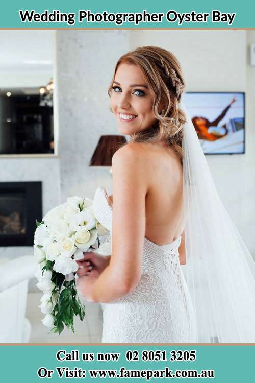Photo of the Bride holding flower bouquet Oyster Bay NSW 2225
