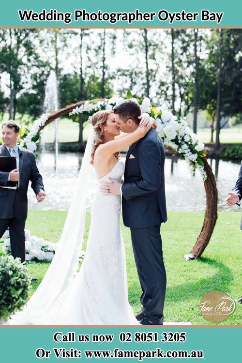 Photo of the Bride and the Groom kissing Oyster Bay NSW 2225
