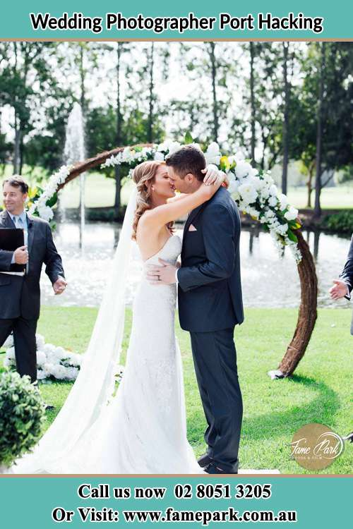 Photo of the Bride and the Groom kissing Port Hacking NSW 2229