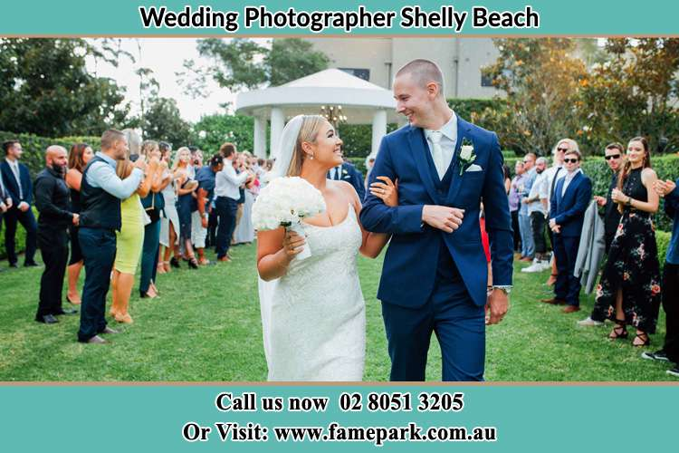 Photo of the Groom and the Bride looking each other Shelly Beach NSW 2261