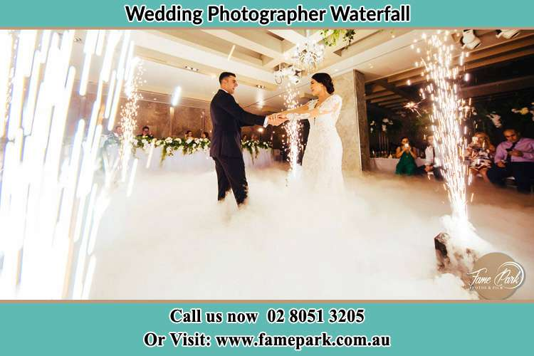 Photo of the Groom and the Bride dancing on the dance floor Waterfall NSW 2233