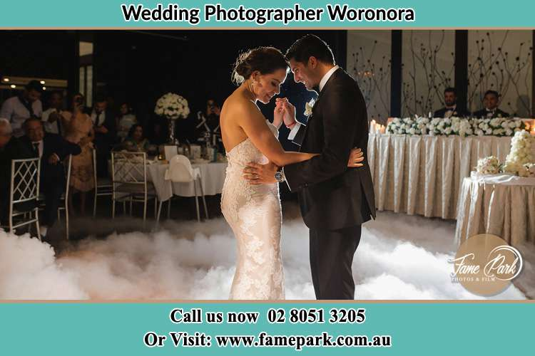 Photo of the Bride and the Groom dancing Woronora NSW 2232